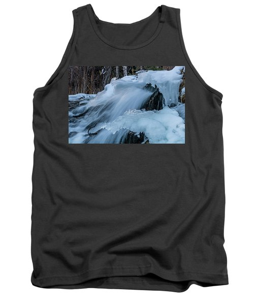 Big Hills Springs Under Snow And Ice, Big Hill Springs Provincia Tank Top