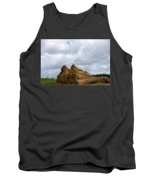 Tank Top featuring the photograph Bound Reeds  by Anjo Ten Kate