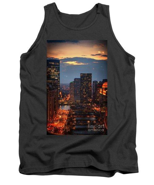 Chicago Sunset Tank Top