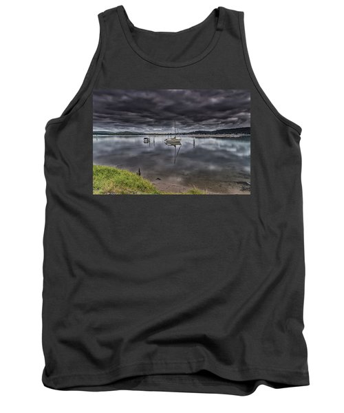 Early Morning Clouds And Reflections On The Bay Tank Top