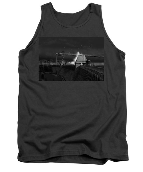Tank Top featuring the photograph Hopgood's Last Run Black And White Version by Gary Eason