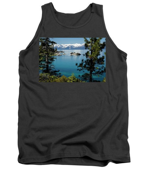 Rocks In A Lake With Mountain Range Tank Top