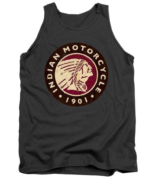 1901 Indian Motorcycle Logo - T-shirt Tank Top
