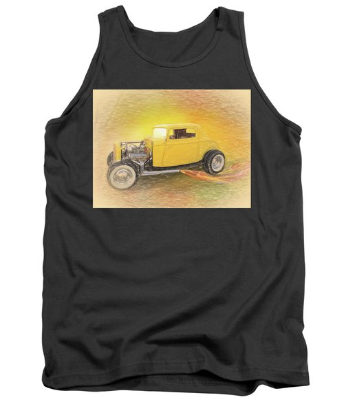 1932 Ford Coupe Yellow Tank Top