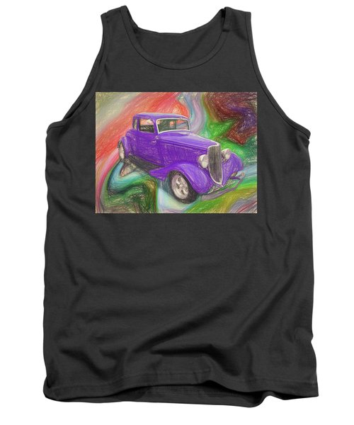 1934 Ford Colored Pencil Tank Top