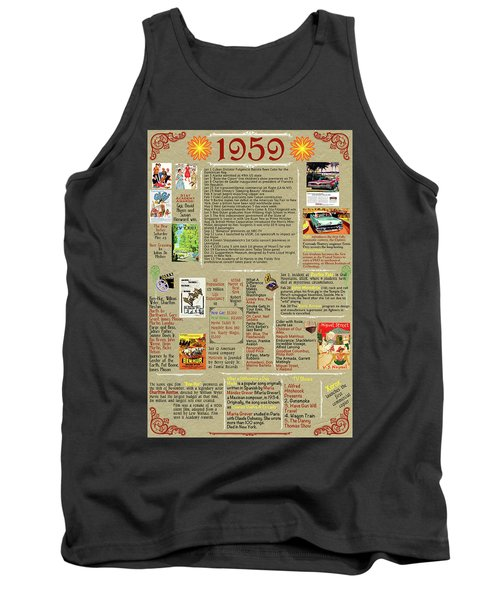 1959 Back In Time History Poster, Birthday Present Poster, All About 1959 Poster Tank Top