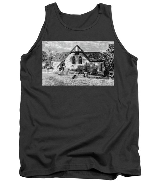 19th Century Sandstone Church In Black And White Tank Top