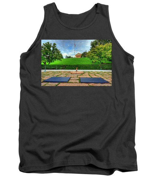 Jfk Grave And Arlington House Tank Top