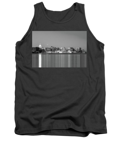 Madison Skyline In Black And White Tank Top