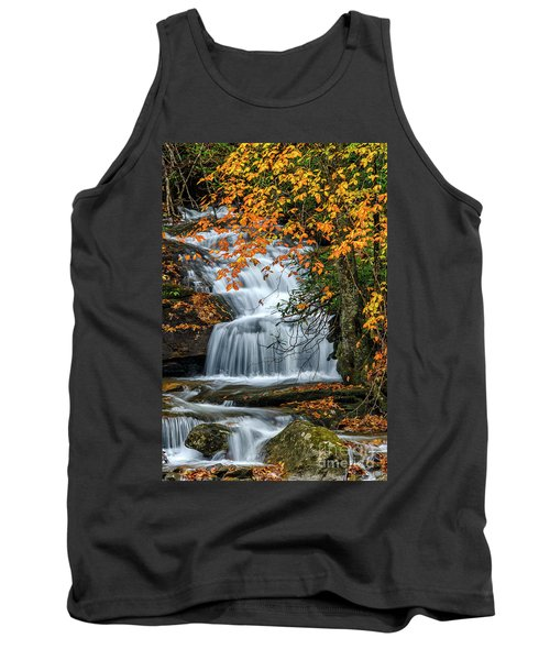 Waterfall And Fall Color Tank Top