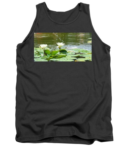 2 White Water Lilies Tank Top