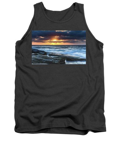 A Moody Sunrise Seascape Tank Top