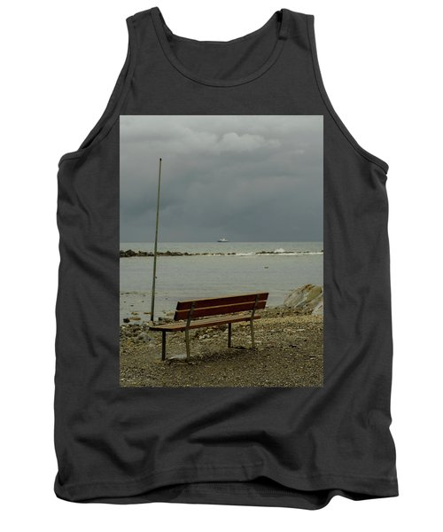 A Bench On Which To Expect, By The Sea Tank Top