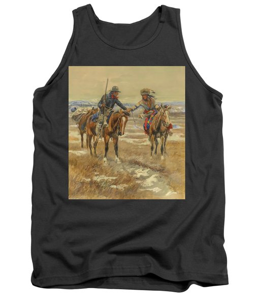 A Doubtful Handshake Tank Top