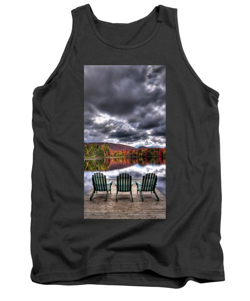 Tank Top featuring the photograph A Fall Day On West Lake by David Patterson