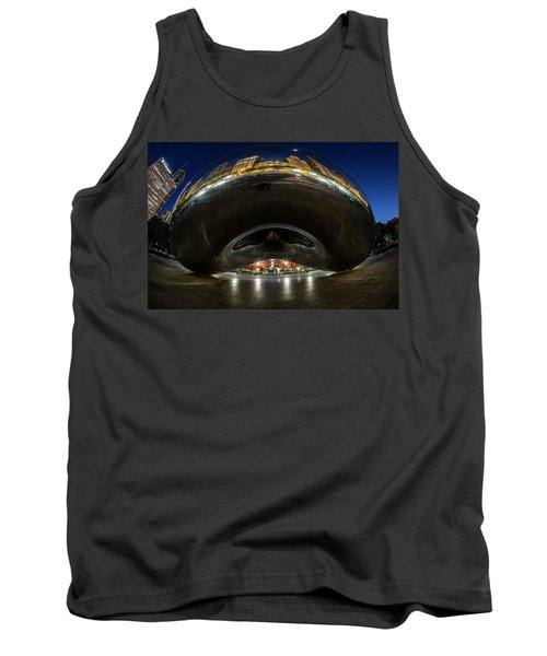 A Fisheye Perspective Of Chicago's Bean Tank Top