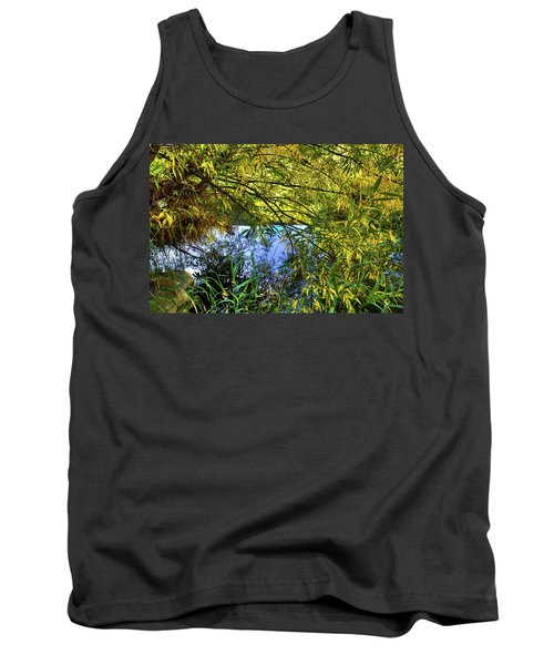 Tank Top featuring the photograph A Peek At The River by David Patterson
