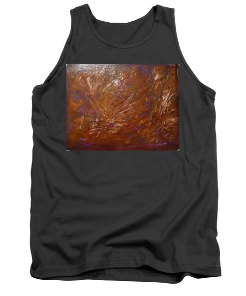 Abstract Brown Feathers Tank Top