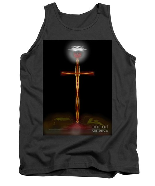 Abstract Cross With Halo Tank Top