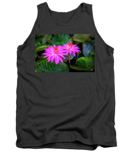 Abstracted Water Lilies Tank Top