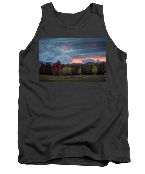 Adirondack Loj Road Sunset Tank Top