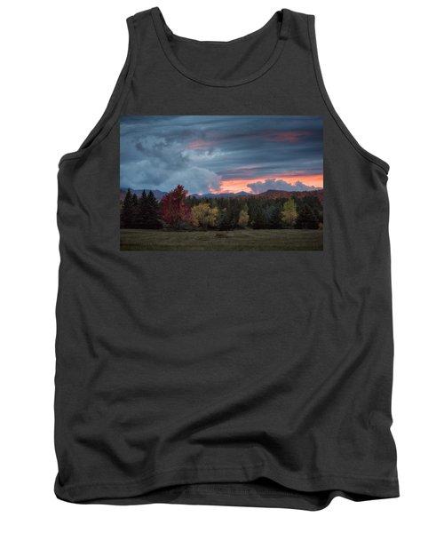 Adirondack Loj Road Sunset Tank Top