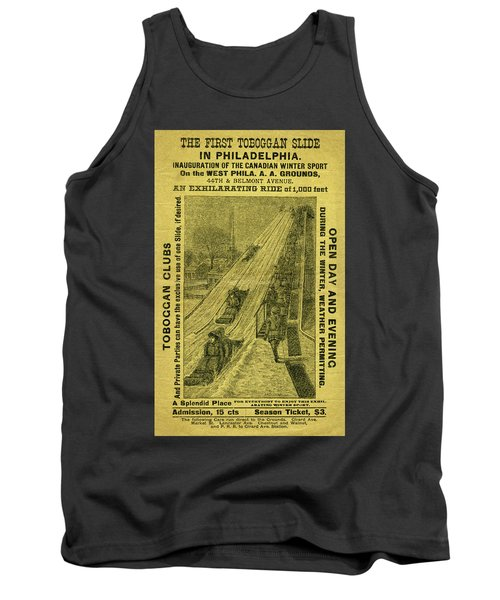 Advertisement For The First Toboggan Slide In Philadelphia Tank Top