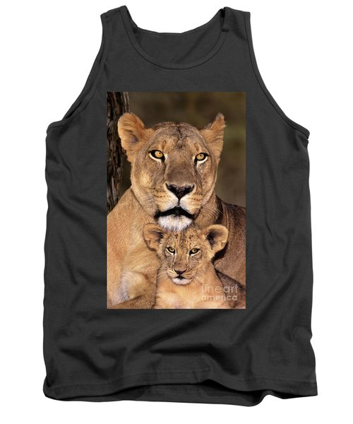 African Lions Parenthood Wildlife Rescue Tank Top