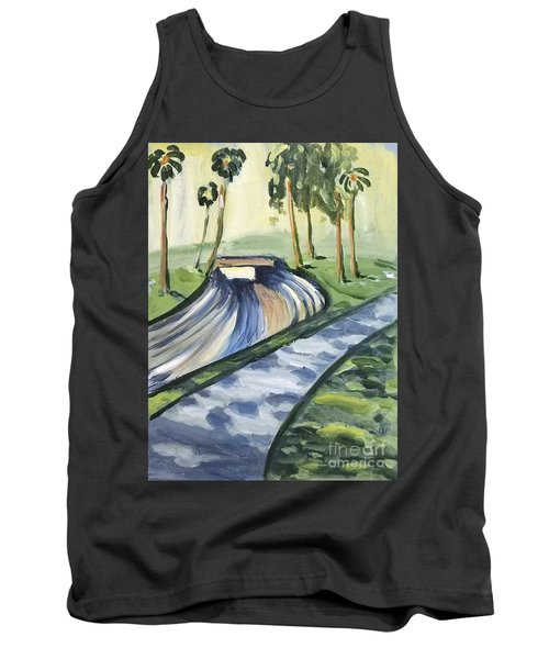 Tank Top featuring the painting Afternoon In The Park by Maria Langgle