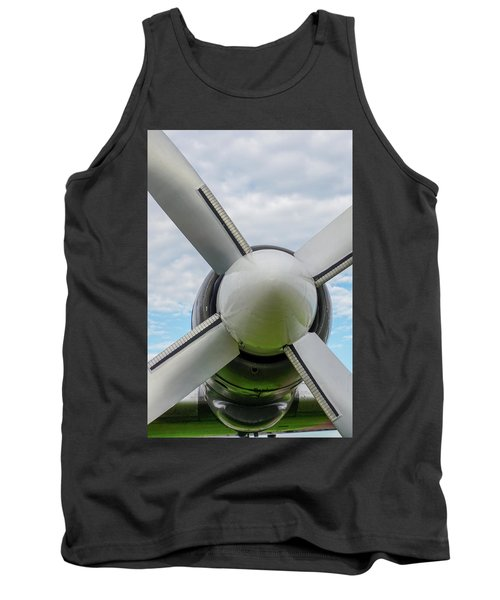 Tank Top featuring the photograph Aircraft Propellers. by Anjo Ten Kate