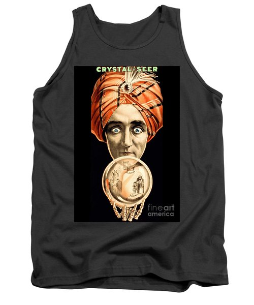 American Poster For The Show Crystal Seer Circa 1910  Tank Top