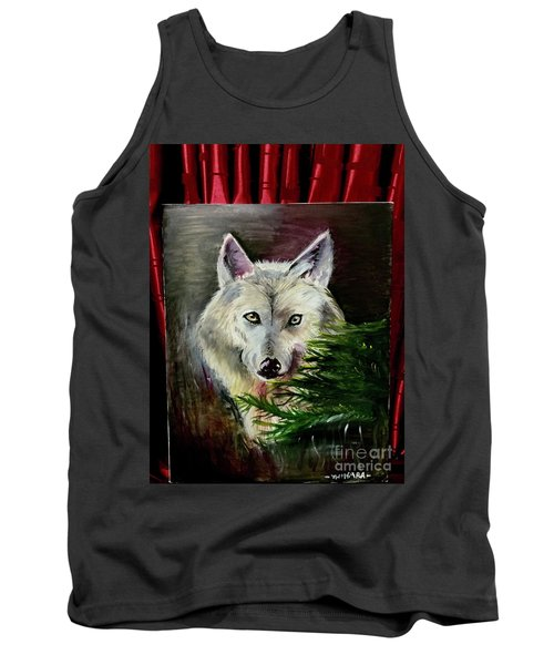 An Arctic Wolf Seeing Through The Soul Tank Top