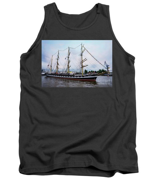 An Exit Sailboat Krusenstern On Parade Tank Top