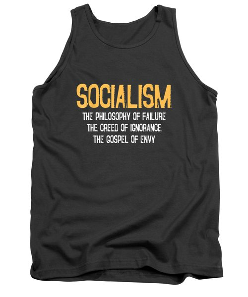 Anti-socialism Failure Envy T-shirt Winston Churchill Quote Tank Top
