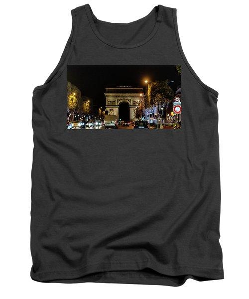 Tank Top featuring the photograph Arc De Triomphe by Randy Scherkenbach