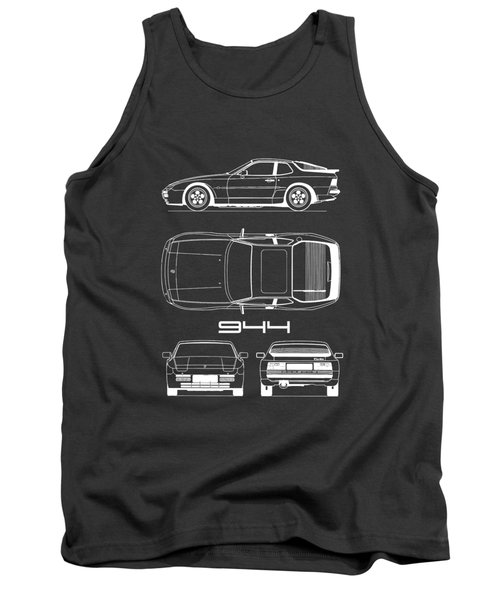 Porsche 944 Blueprint Tank Top