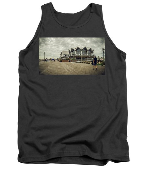 Asbury Park Boardwalk Looking South Tank Top