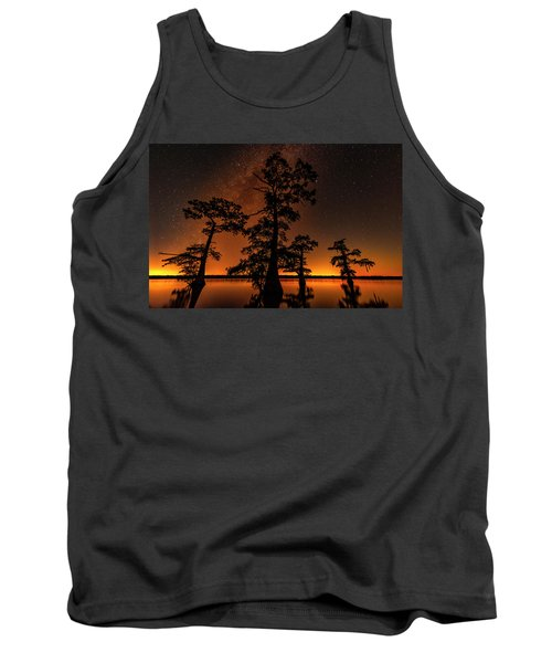 Tank Top featuring the photograph Atchafalaya Basin On Fire by Andy Crawford