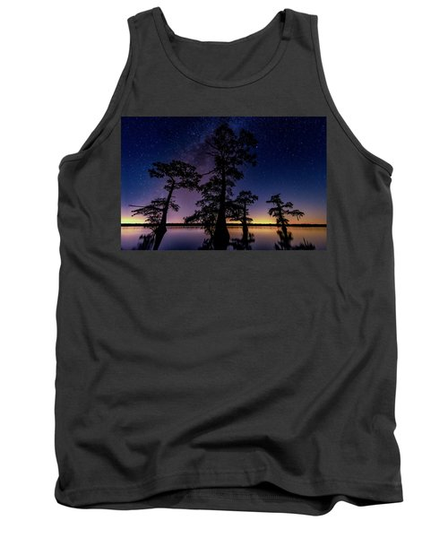 Tank Top featuring the photograph Atchafalaya Basin Under The Miky Way by Andy Crawford