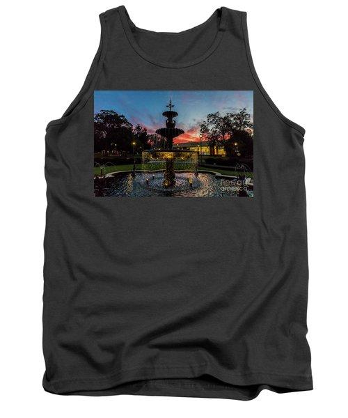 Augusta University Fountain Sunset Ga Tank Top