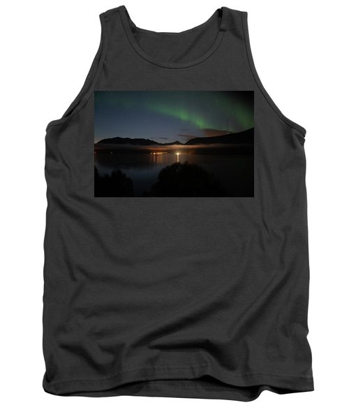 Aurora Northern Polar Light In Night Sky Over Northern Norway Tank Top