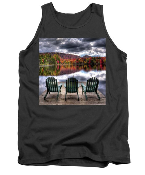 Tank Top featuring the photograph Autumn At The Lake by David Patterson