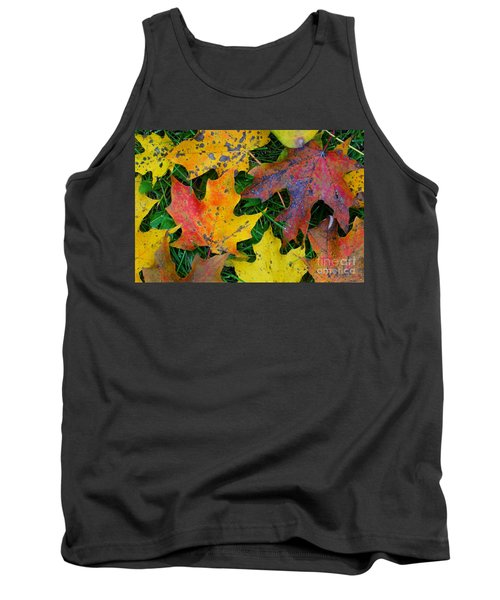 Tank Top featuring the photograph Autumn Leaves by Christopher Shellhammer