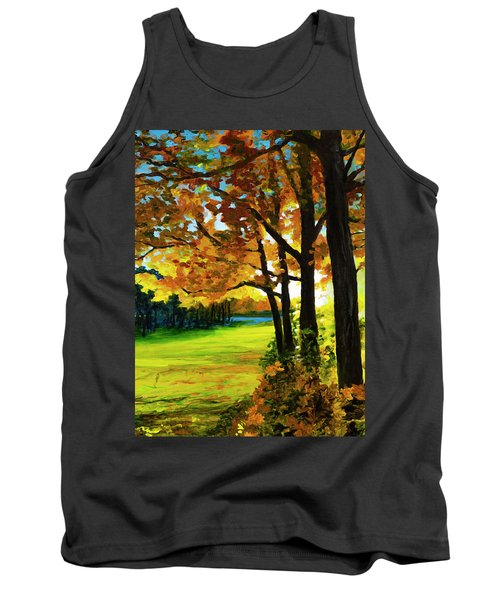 Sunset Over The Park Tank Top