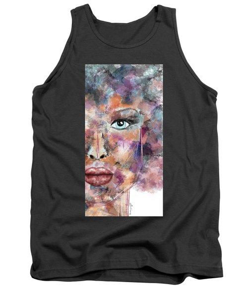 Autumn - Woman Abstract Art Tank Top