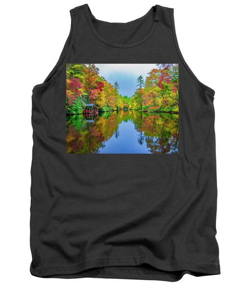 Tank Top featuring the photograph Autumn On Mirror Lake by Andy Crawford
