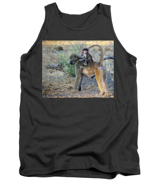 Baboon And Baby Tank Top