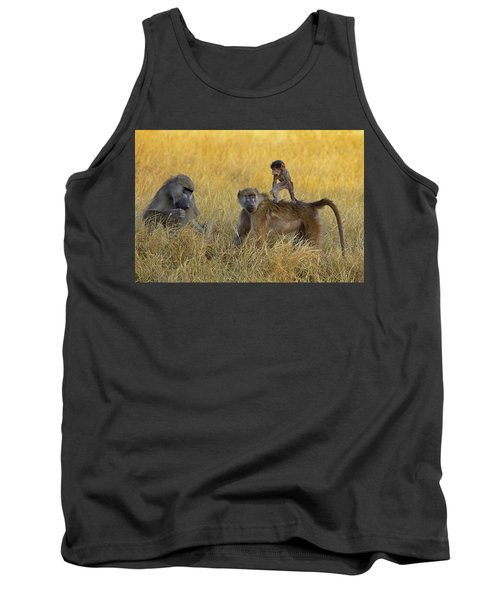 Baboons In Botswana Tank Top