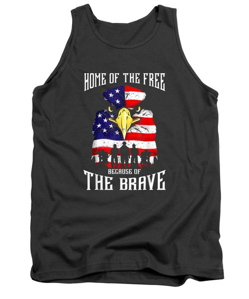Bald Eagle American Flag Military Veterans Patriotic Freedom T-shirt Tank Top