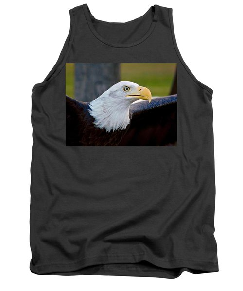 Tank Top featuring the photograph Bald Eagle by Dan Miller